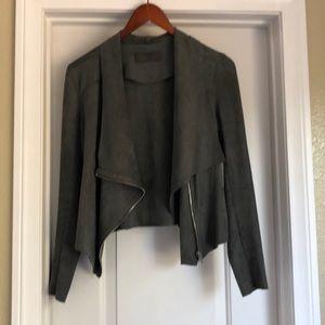 BLANC NYC Suede Jacket XS Grey